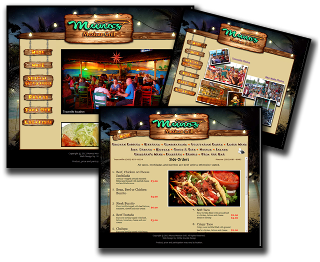Munoz Mexican Grill Website
